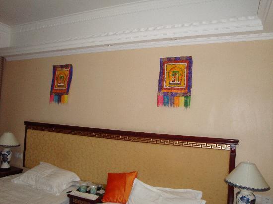Darewa Hotel : 房间的双人床