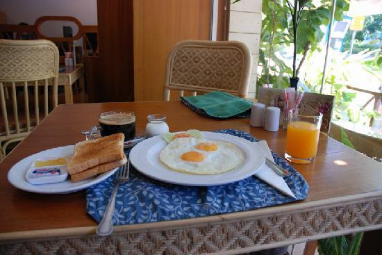 Hostel Na Nara: 早餐……很好看。有点吃不饱……哈哈~