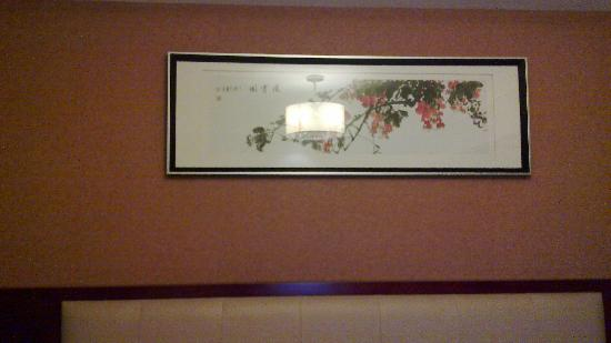 Yin Tai: 商务间大床上的画,觉得意境不错