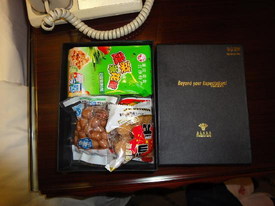 King World Hotel: 赠送的小食品
