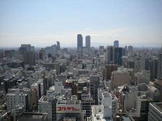 Nagoya, Japón: 从名古屋电视塔上眺望JR名古屋站及名古屋街景