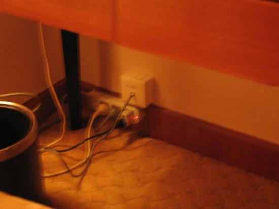China City Hotel : 电源接口少,网线使用不方便