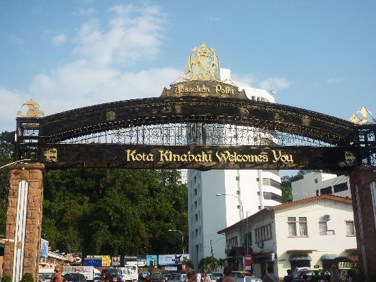 Kota Kinabalu, Malaysia: 去东姑拉曼任何岛的要塞---码头