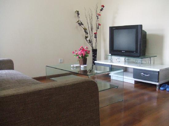 Comma Hotel Apartment Chengdu Chunxi Road: 客厅1