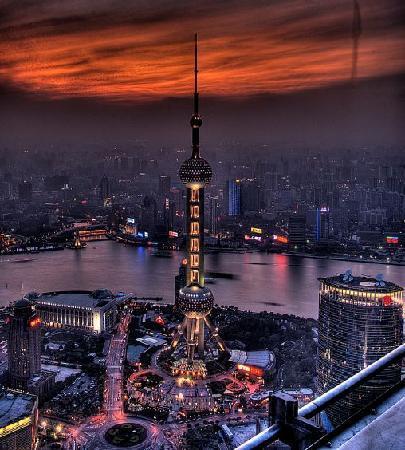 Shanghai, China: 夜色黄埔