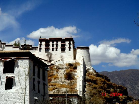Tibet, Cina: 布达拉宫一角