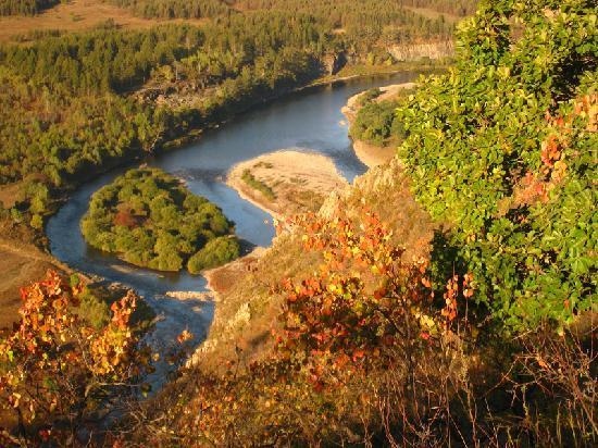 Inner Mongolia, China: 河里的沙洲小岛