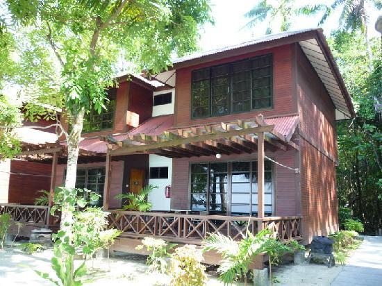 Arwana Perhentian Eco Resort & Beach Chalet: 海景房木屋
