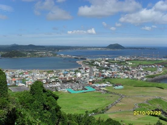 Jeju-do, Corea del Sur: 汉拿山上俯拍