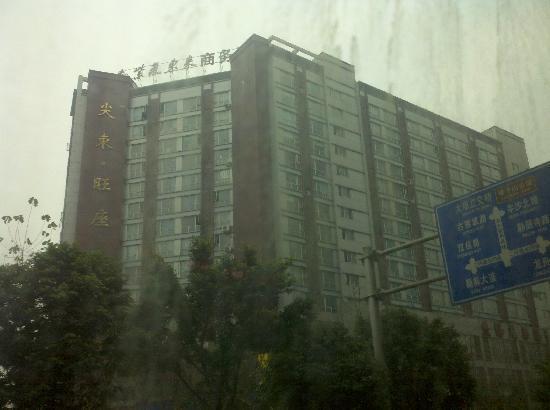 Ziqidonglai Business Hotel: 对面马路拍的