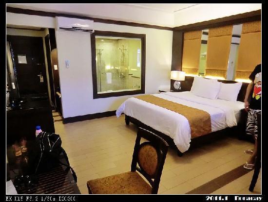Henann Lagoon Resort: 可以看到浴室呢