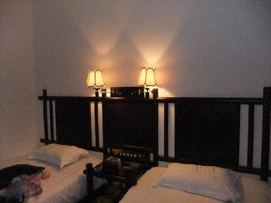 Ali Moutain Hotel: 白天也必须开灯的房间