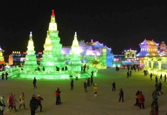 Harbin, China: 冰灯1