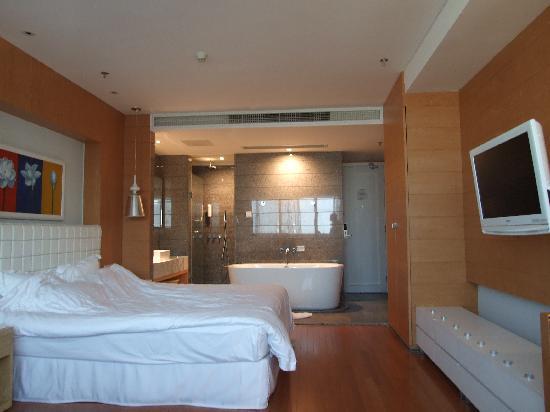 Muse City Hotel: 很大的房间,电视机可以转动