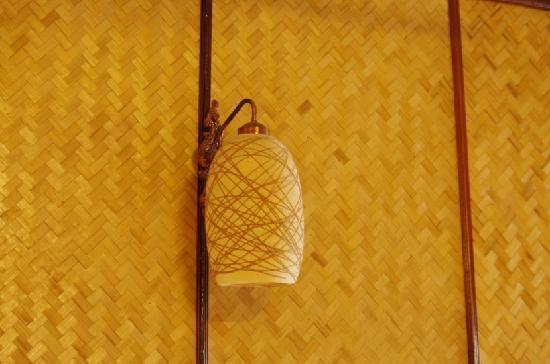 Rux-Thai Guest House: 房间的灯和墙壁