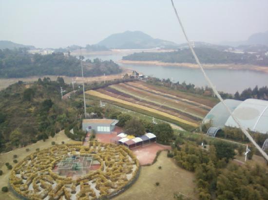 Shenzhen, Chine : 去的时候是阴天~~晴天会更美的八!呵呵