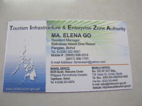 Balicasag Island, Filippine: 联系方式