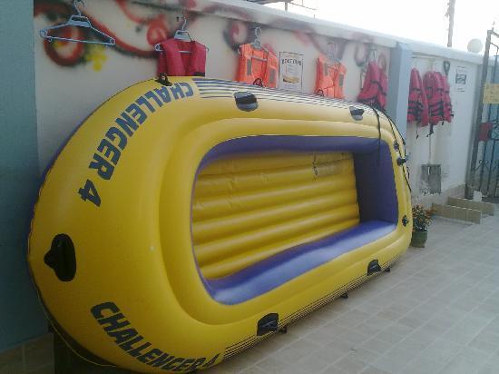 Lost International Youth Hostel Luhuitou: 就是这个皮艇让我有了第一次的经历……