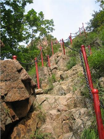 Lafa Moutain National Park: 算是陡峭的山路了