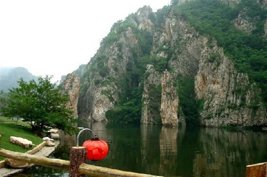 Zhuanghe, China: 湖水