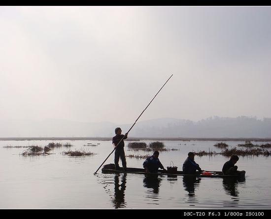 Caohai Nature Reserve: 捕鱼的小孩儿
