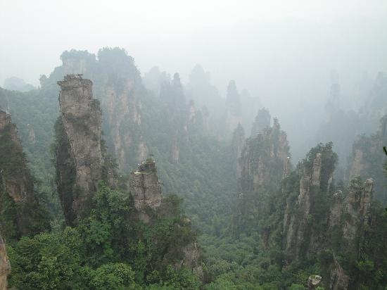Zhangjiajie, China: 石林耸立