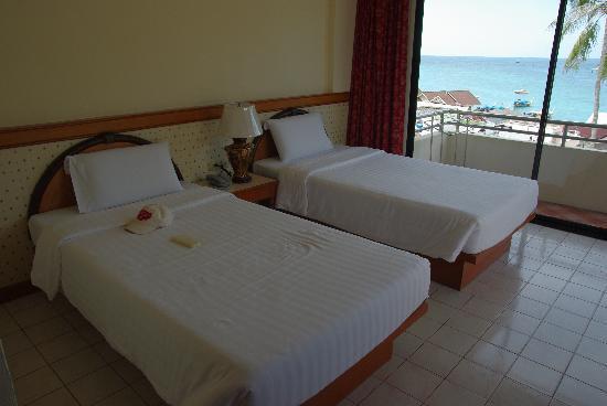 Phi Phi Hotel: 海景房都是双人床