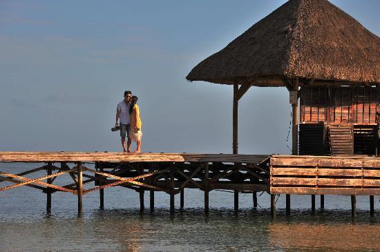 Club Med Albion Villas - Mauritius: 海滩边的栈桥,很美