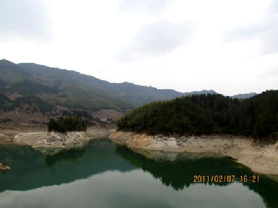 Suining County, China: 湖光山色