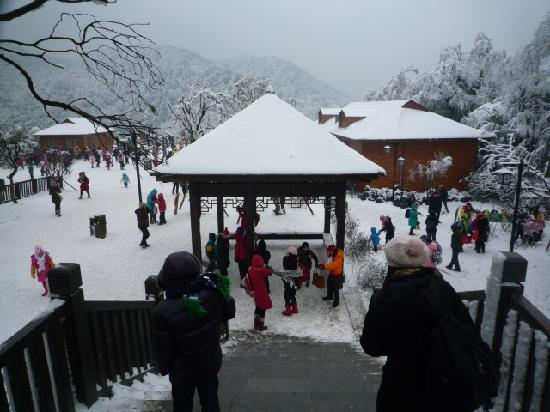 Jinfuo Mountain : 白白的雪、