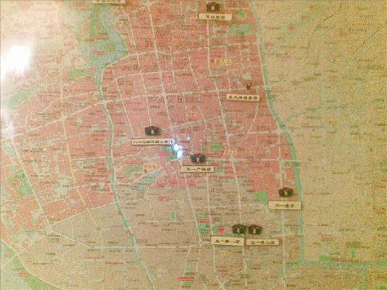 Home Inn Fuzhou Dongda Road: 如家大堂内地图
