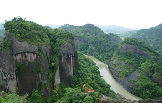 Wuyi Mountain Scenic Resort : 武夷山俯视图