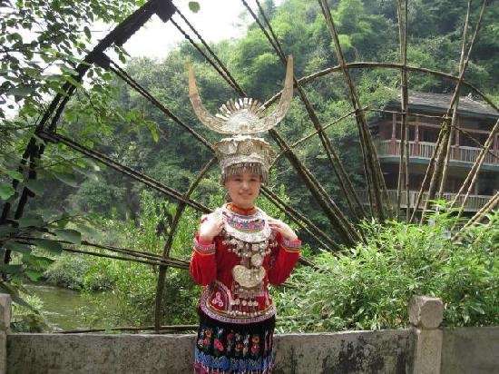Guiyang, Kina: 在天河潭照的