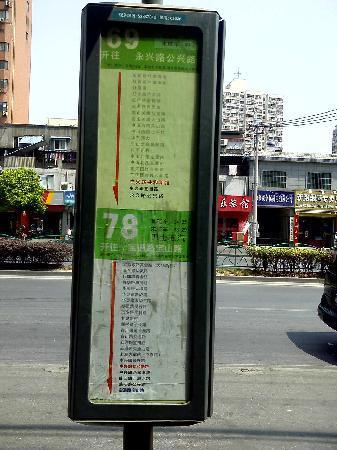 Ru Lai Hotel: 酒店对面的车站,汽车蛮多的。