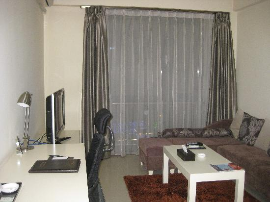 Home Inn Beijing Yizhuang Zhongyi Sibalu: 客厅