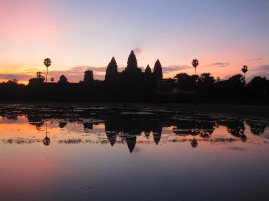 معبد أنغكور وات: 吴哥日出