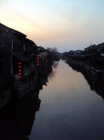 Zhejiang, China: 夜幕降临