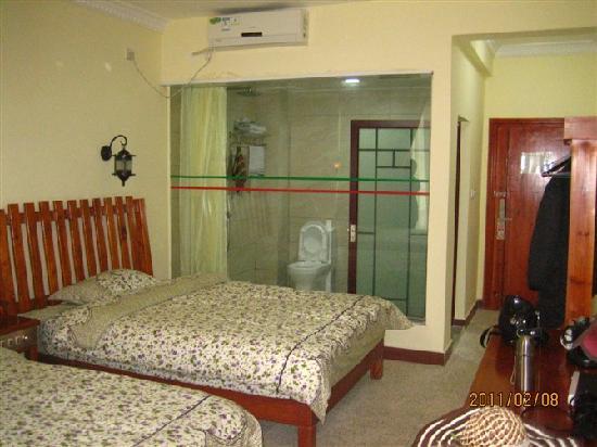 Shui'an Overseas Chinese Hotel: 我最喜欢的田园品的床上用品!
