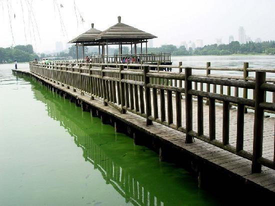 Nanjing, Kina: 桥亭流水