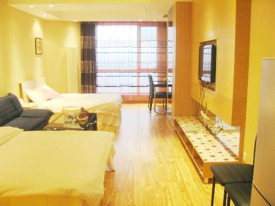 Yijing Huayuan Serviced Apartment: 豪华双床房