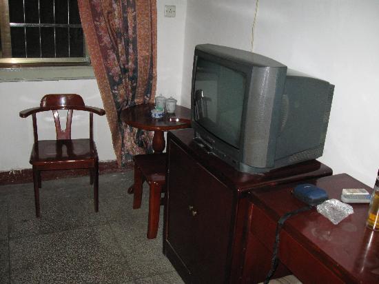 Huajingtang Hotel: 宾馆标准间内,有电视