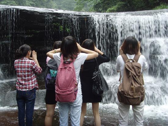 Mt. Tiantai Scenic Resort in Qionglai: 六人行,大声呐喊吧!
