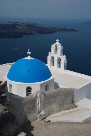 Greece: 圣岛著名的蓝顶教堂