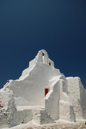 Grécia: 米岛的纯白色教堂