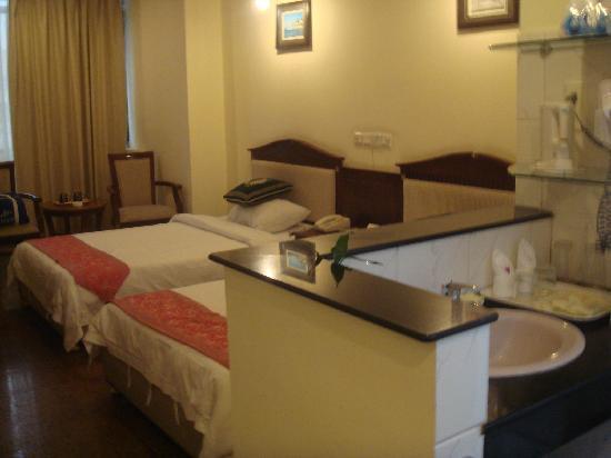 Harvest Seaview Hotel Sanya: 从门口看过去
