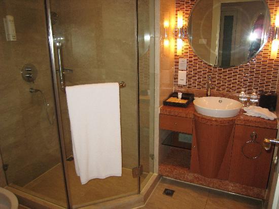 Seagull Hotel Jinshan: 卫生间还比较干净