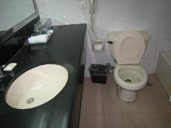Fuxin Hotel: 很一般的卫生间,算不上干净感觉
