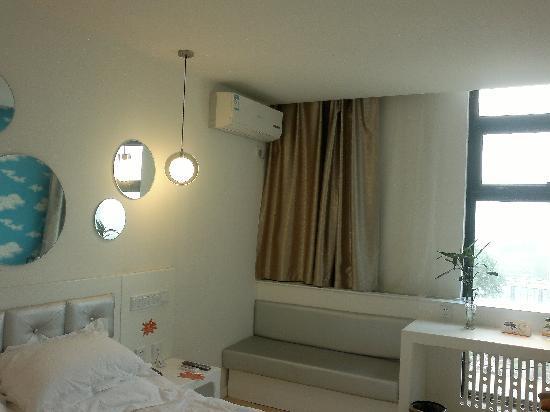 Yezi Shishang Hotel Taiyuan Yifen Street: 床头一侧