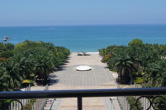 Yazhilan Family Inn: 从海景房看到的海景