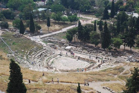 Hotel Myrto Athens: 这个叫什么来着,反正也是卫城山下的古迹